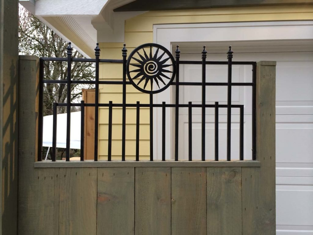 carpentry detail on gate in landscape design