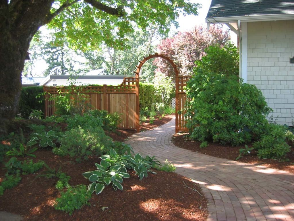 brick walkway gate pergola design salem landscape