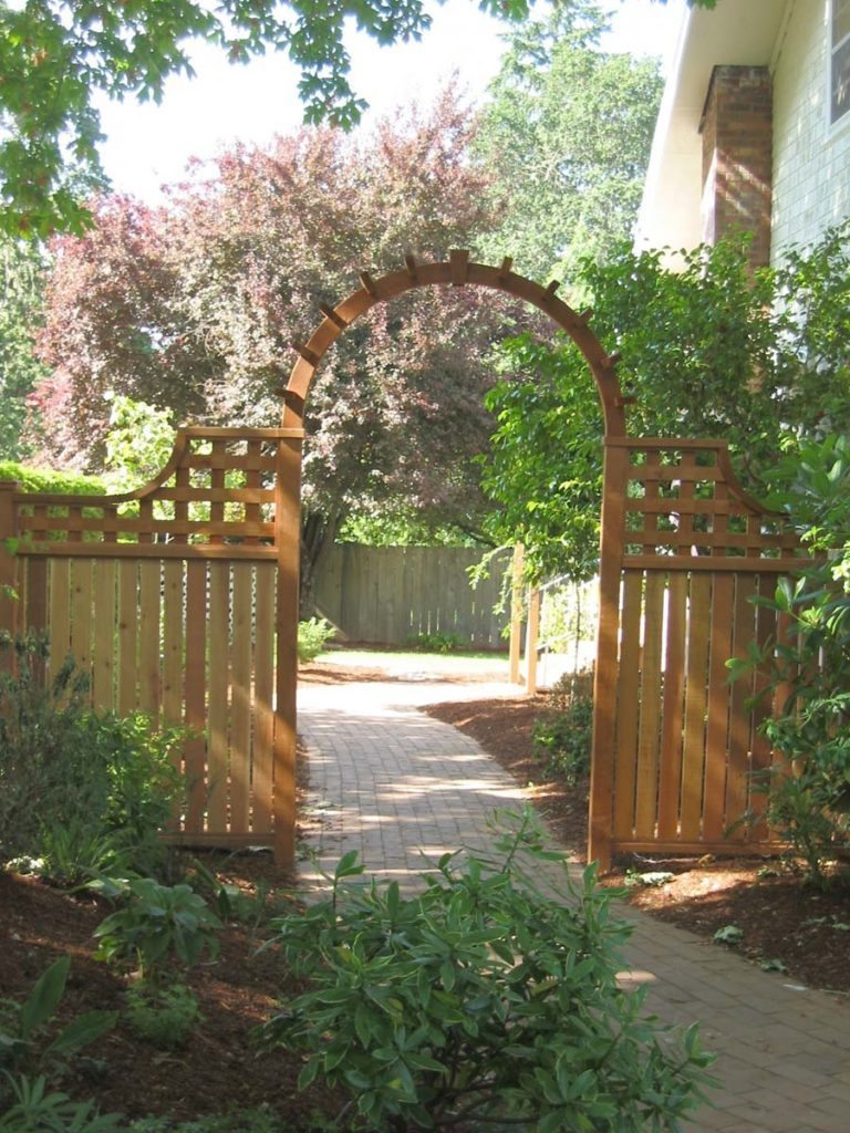 brick walkway gate pergola design salem landscape
