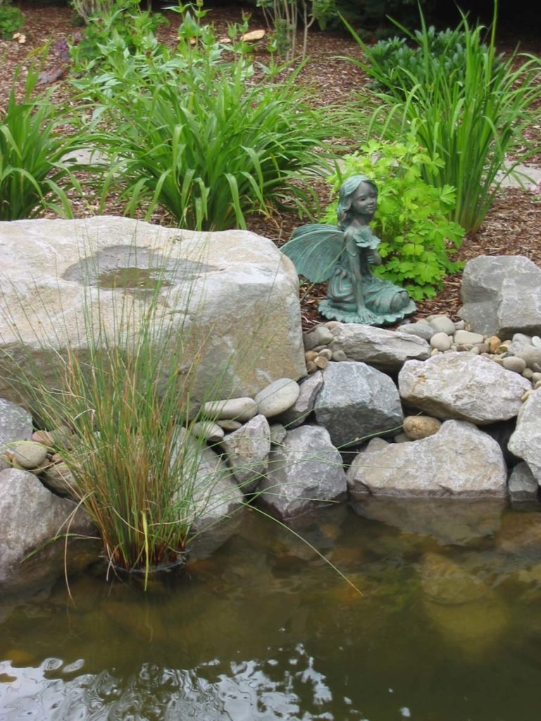 pond with boulders and waterfall landscape design 2