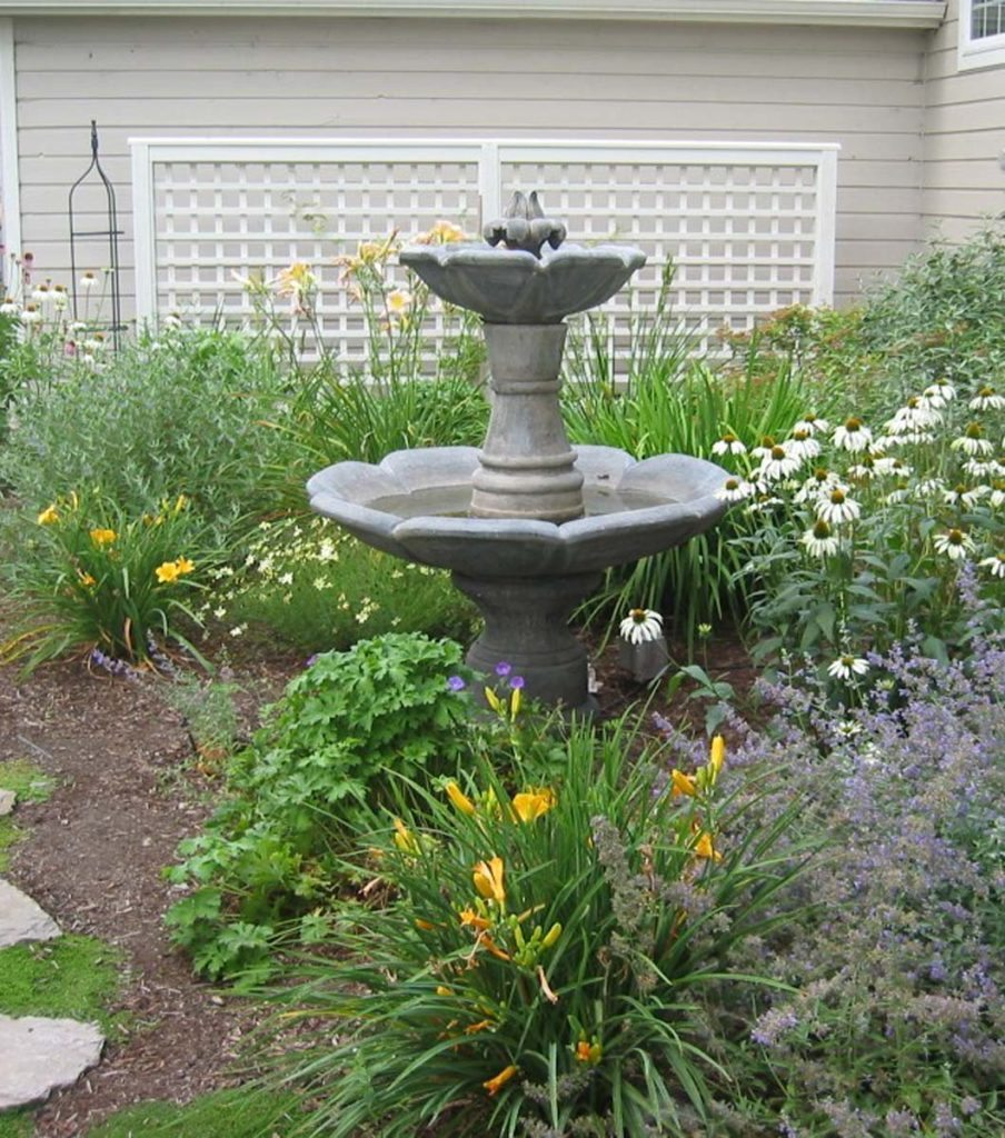 fountain with landscape design in salem oregon