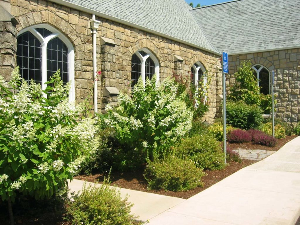 church landscape design