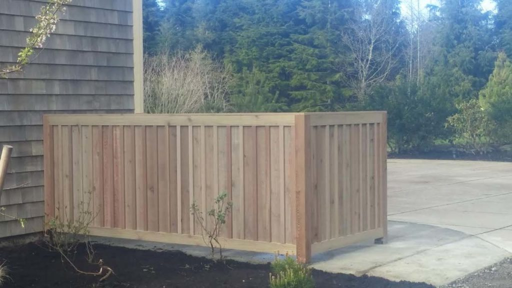 refuse bin storage cedar enclosure in salem oregon