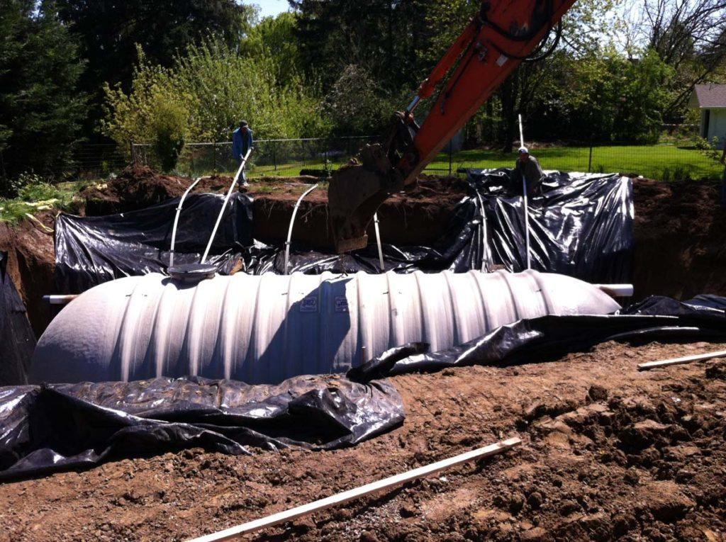 rainwater harvesting tank in landscape 3