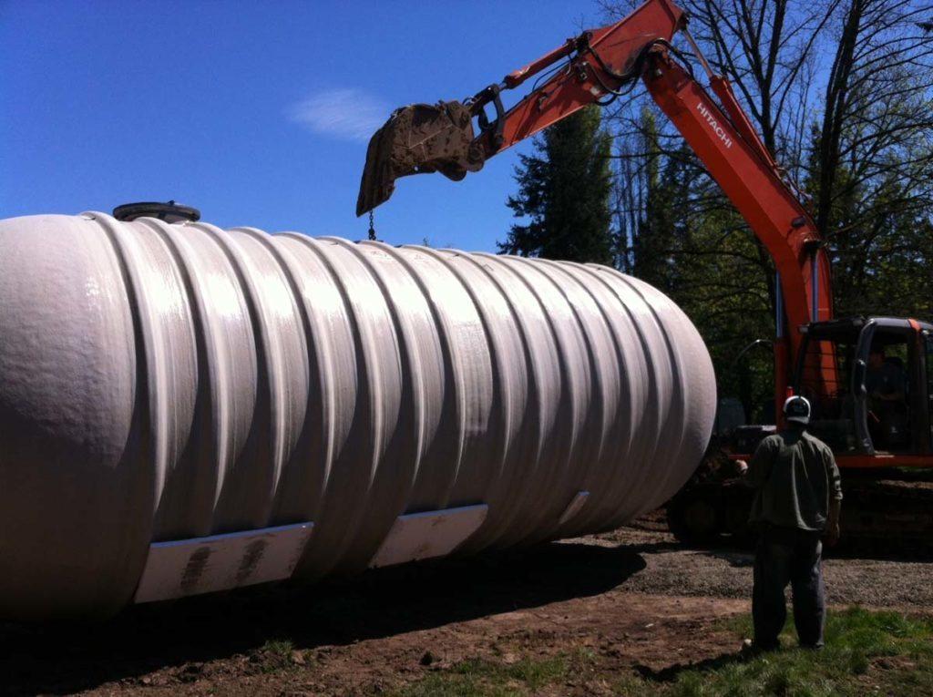 rainwater harvesting tank in landscape 6