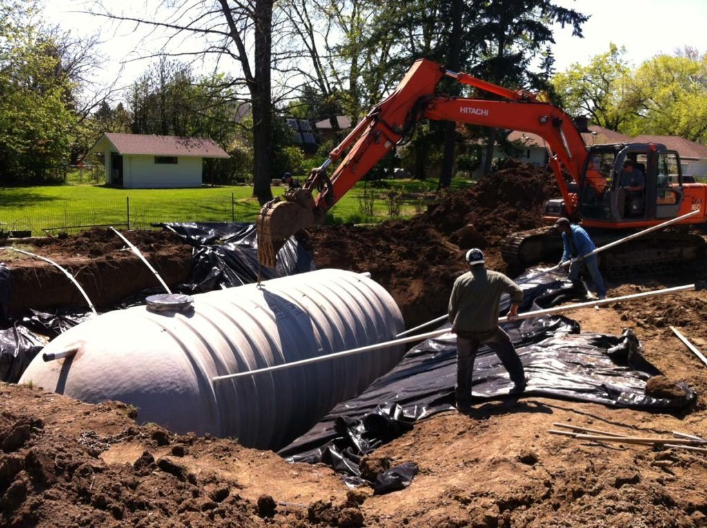 rainwater harvesting tank in landscape 4