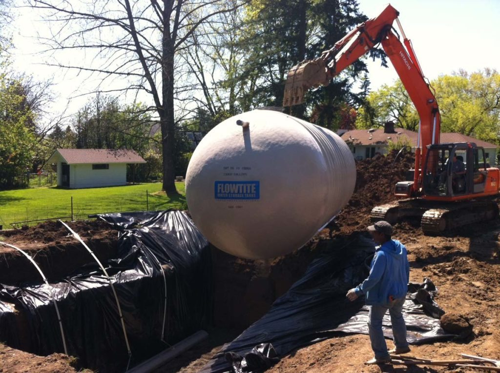 rainwater harvesting tank in landscape 5