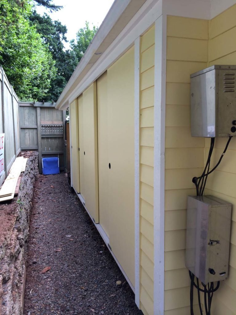 storage sheds built into garage exterior in salem oregon