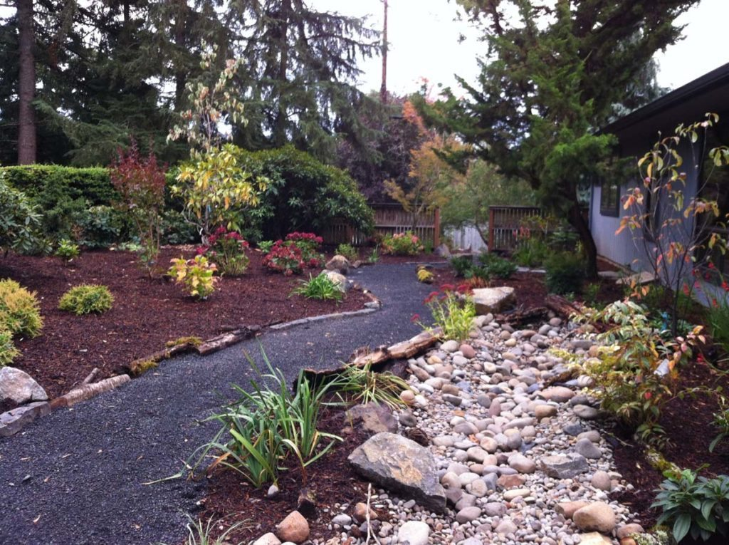 gravel path salem boulder seeding landscape