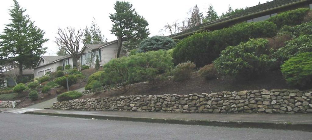 rubble rock wall design salem landscape