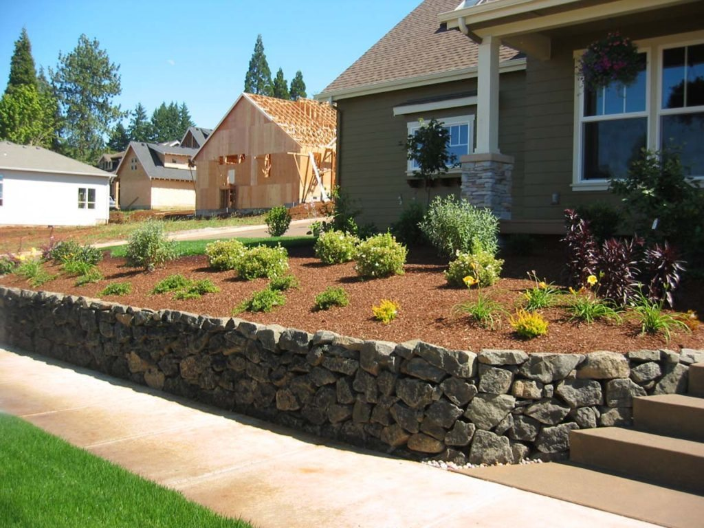 retaining wall and sustainable landscape design