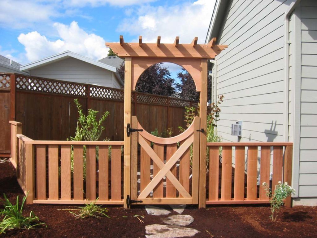 border arbor and gate with landscape design 3