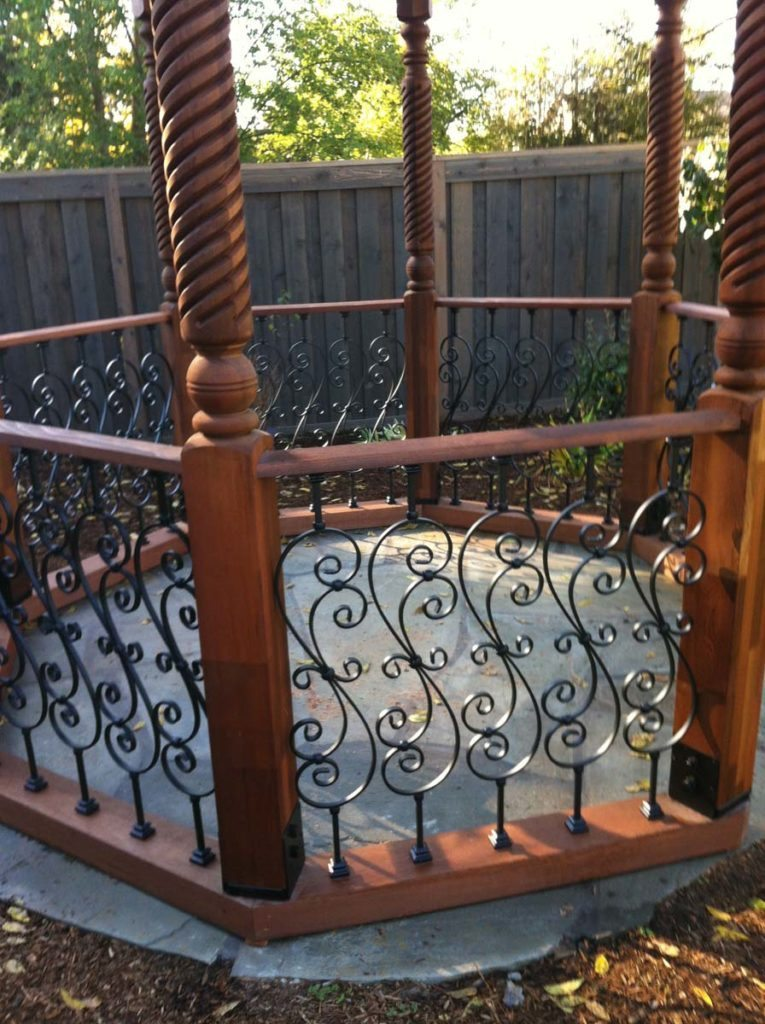 gazebo detail railing and floor in salem oregon