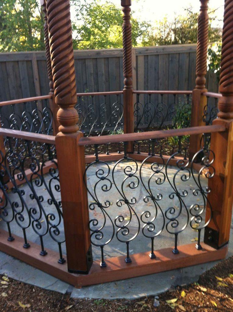 gazebo detail railing and floor in salem oregon