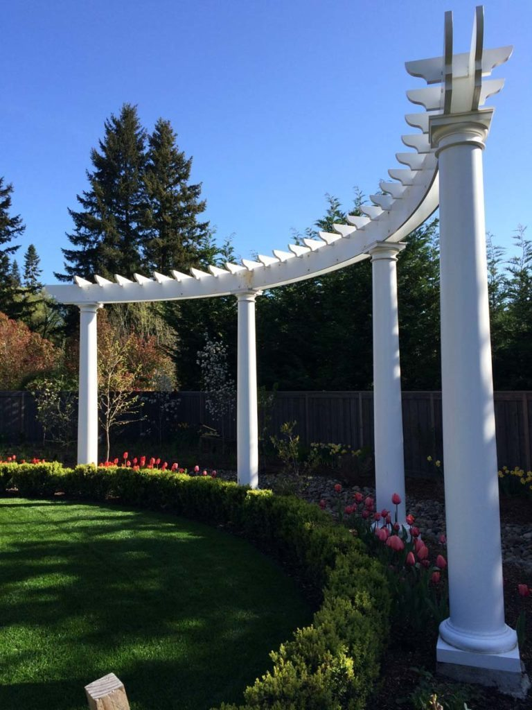 folly and pergola in landscape design in bloom 8