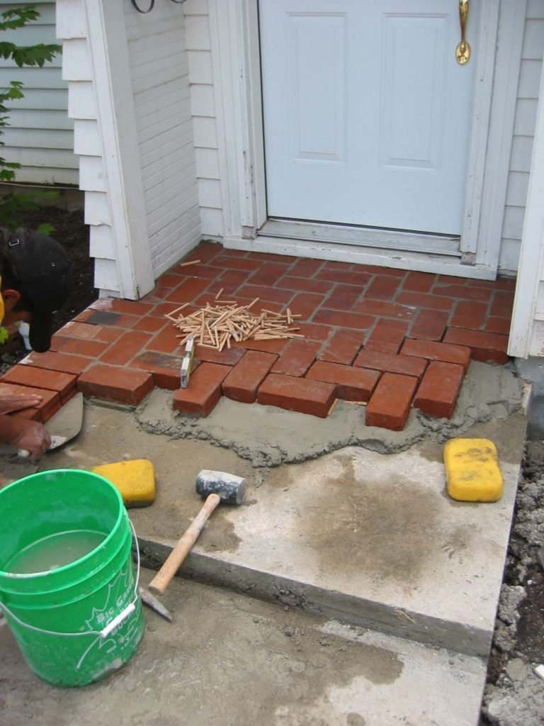 clay brick masonry entry construction landscape design 2