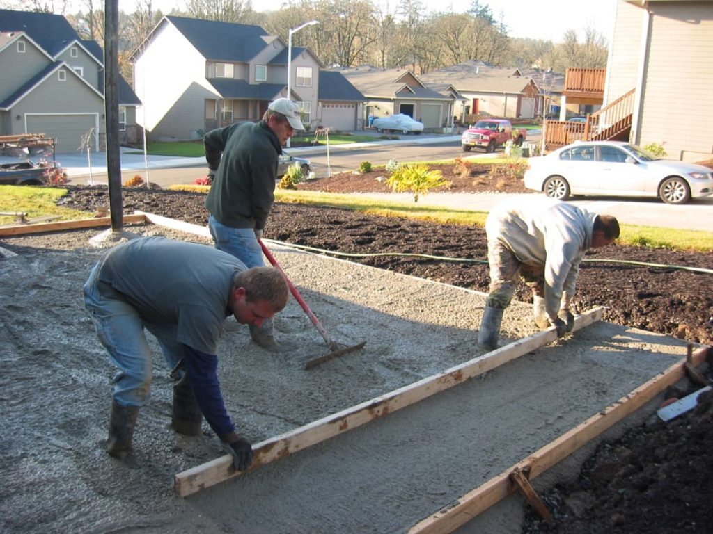concrete pour in salem oregon