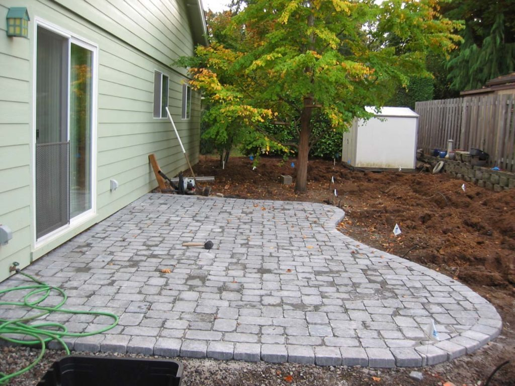 concrete brick patio design salem oregon