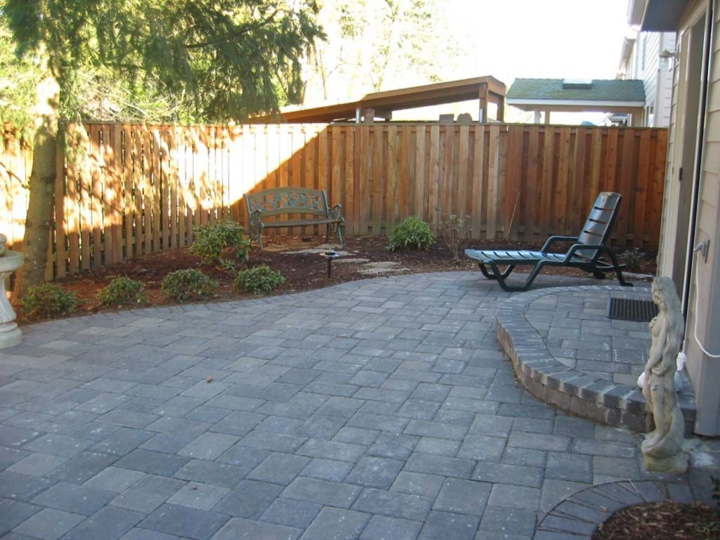 landscape concrete paver patio design
