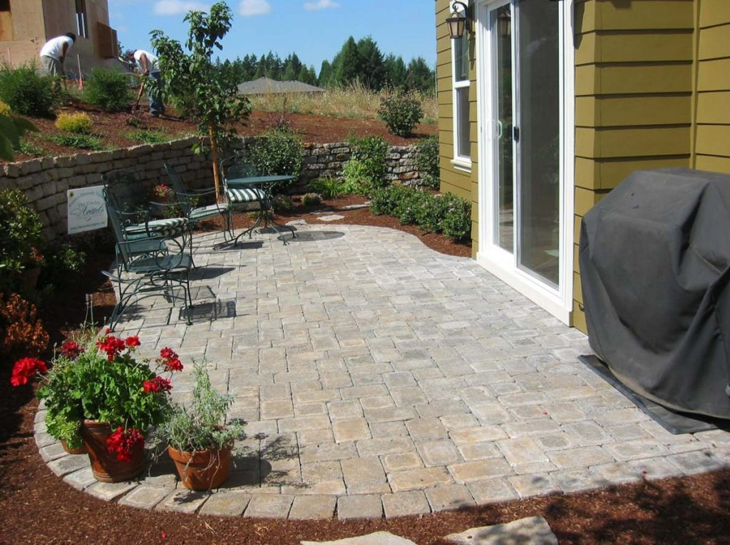 concrete paver brick patio landscape salem