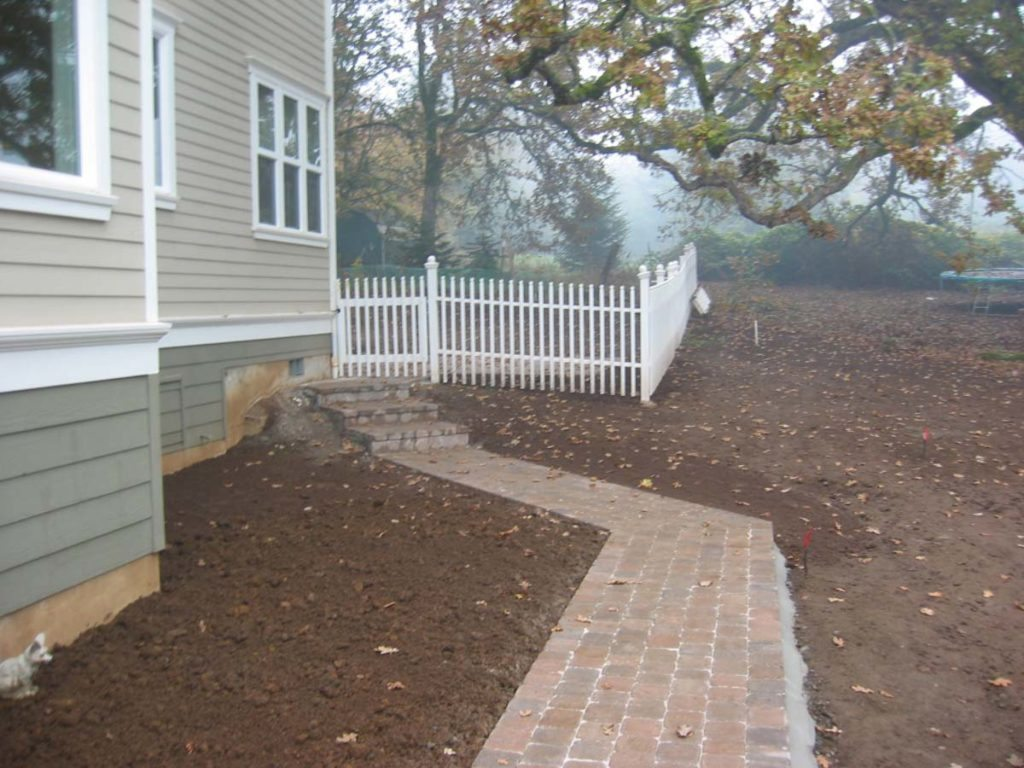 concrete brick pavers with mortared edging landscape design construction 2