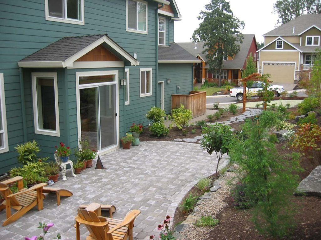 concrete paver patio salem landscape design
