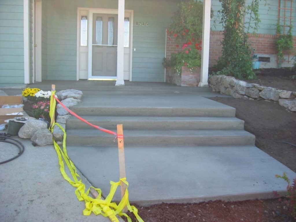 concrete steps to entryway in salem oregon