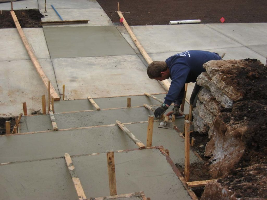 concrete steps pour landscape design salem