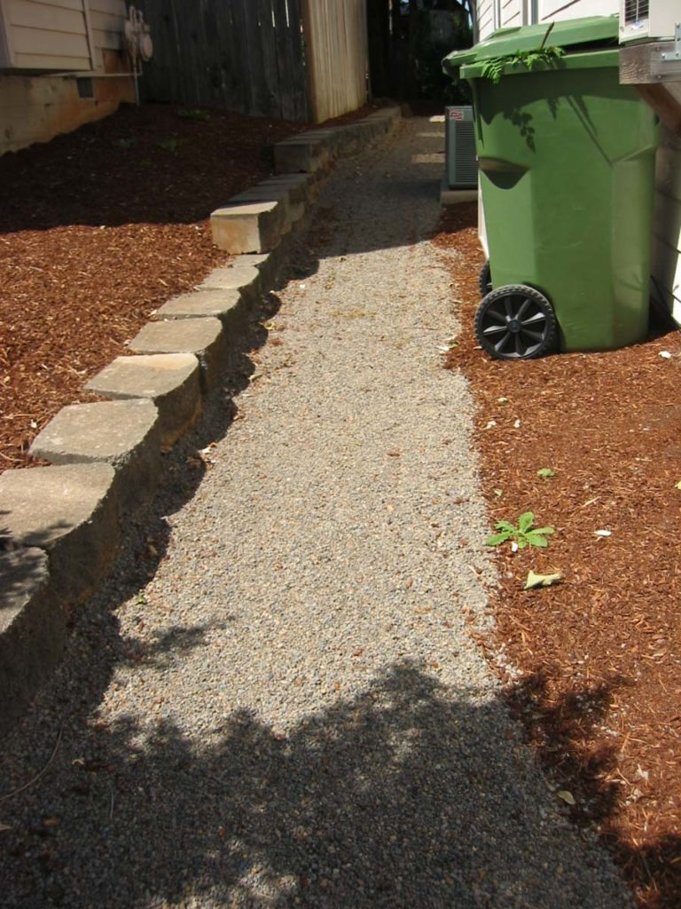 crushed gravel path landscape design