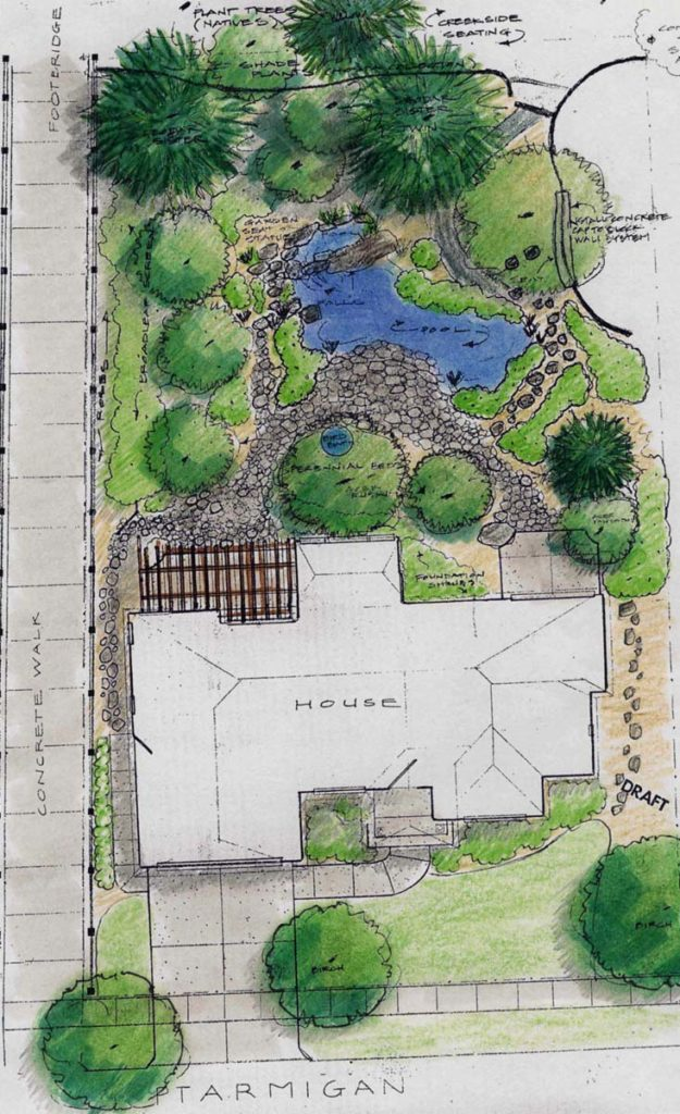 landscape design salem oregon sample drawing