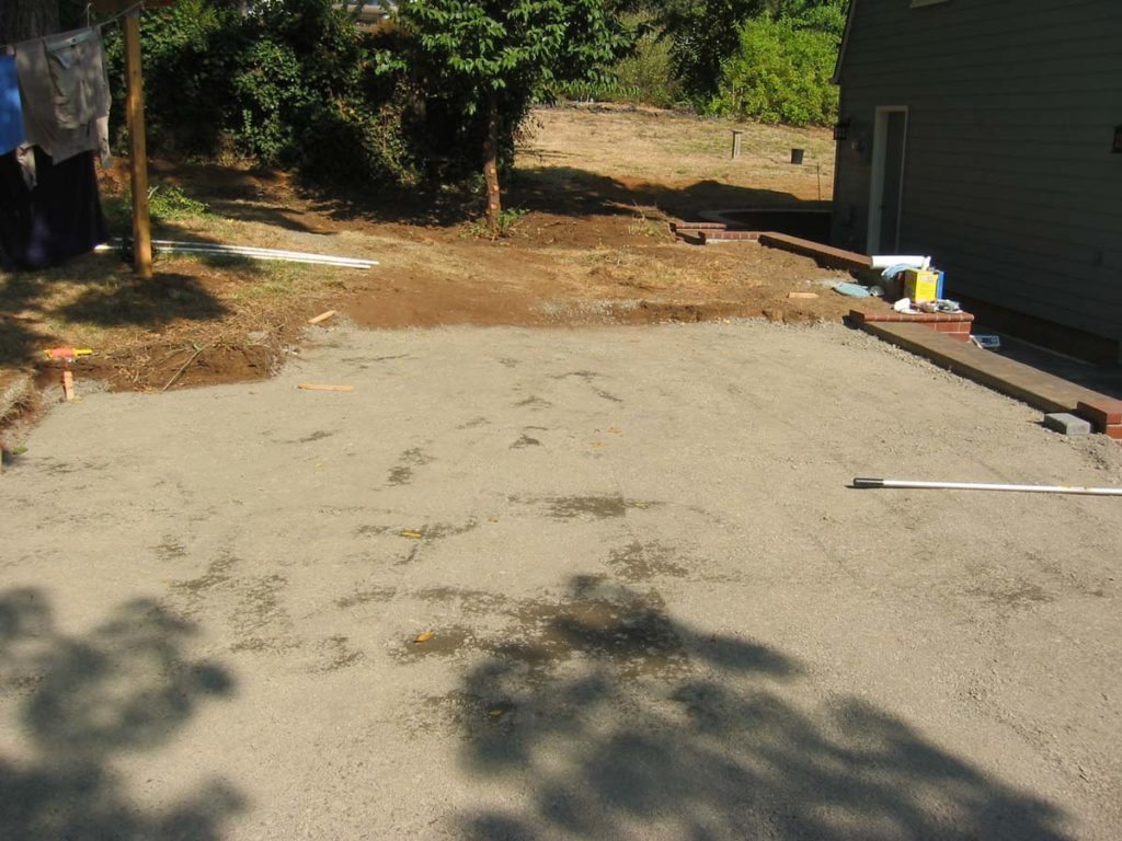 concrete brick paver site prep in salem oregon