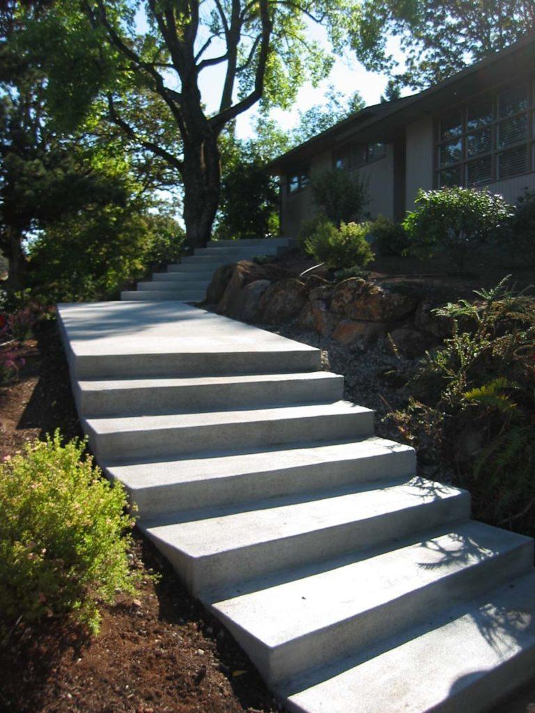 concrete steps landscape design