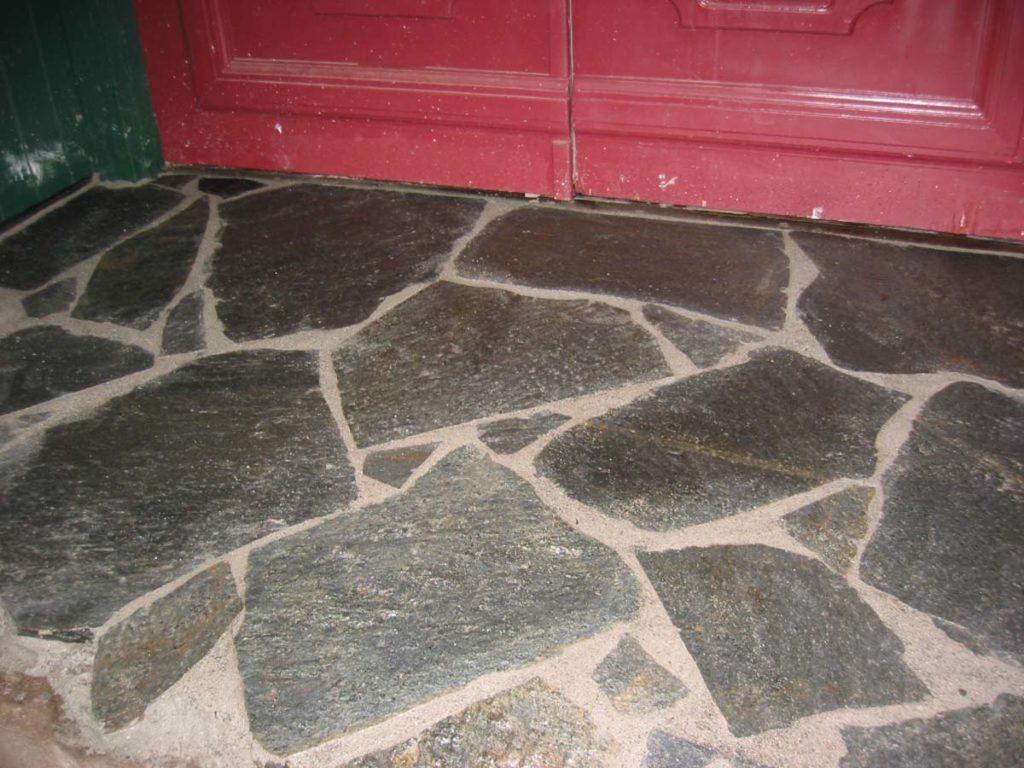 flagstone masonry prep for entry landscape design 2