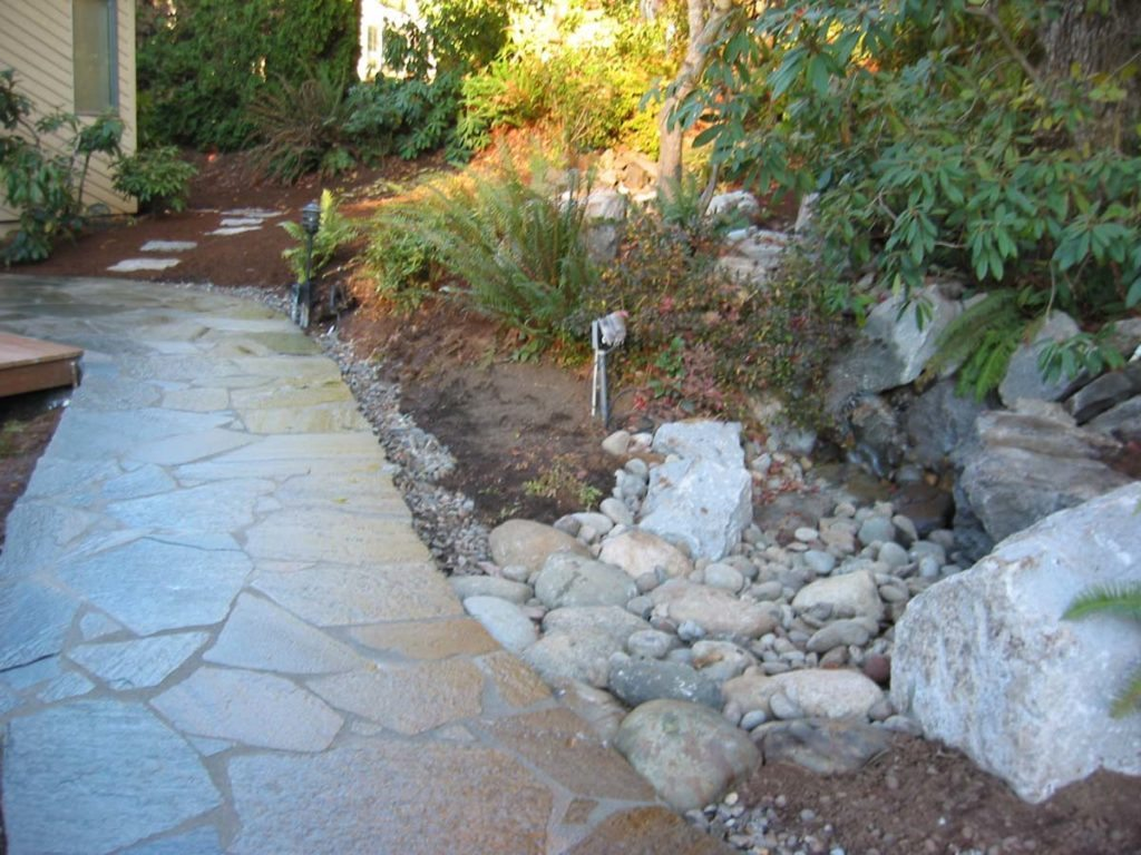 flagstone masonry pathway landscape