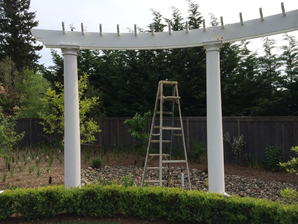 pergola folly construction in landscape design 2
