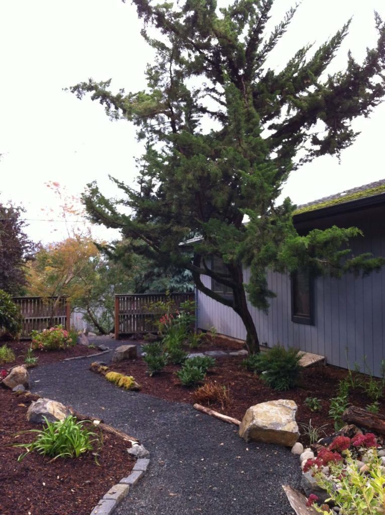 salem fencing gravel path landscape
