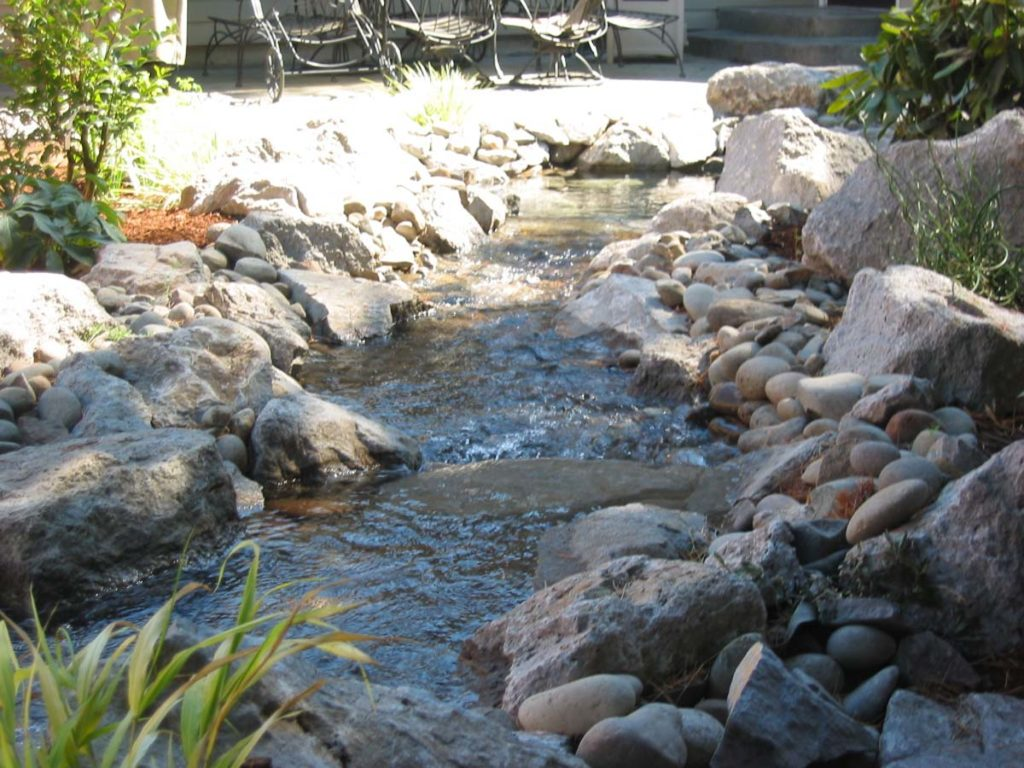 creekbed with boulders landscape design