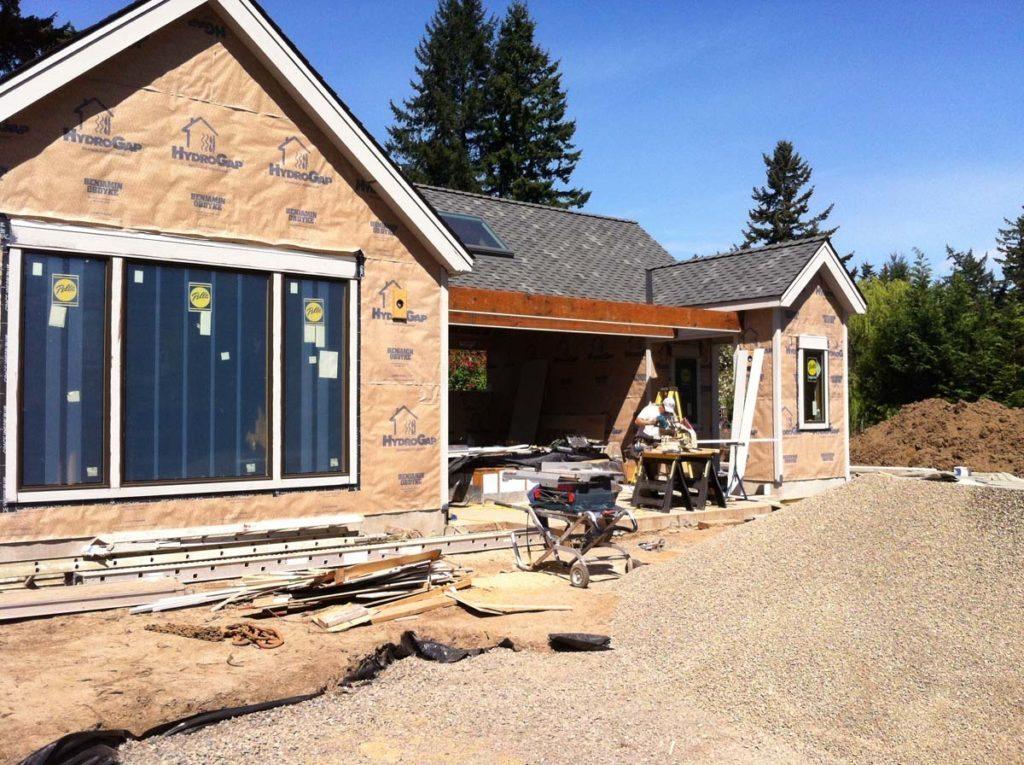swim spa under construction with bluestone landscape design 4