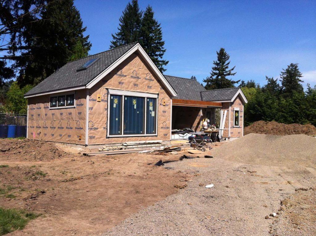 swim spa under construction with bluestone landscape design 3