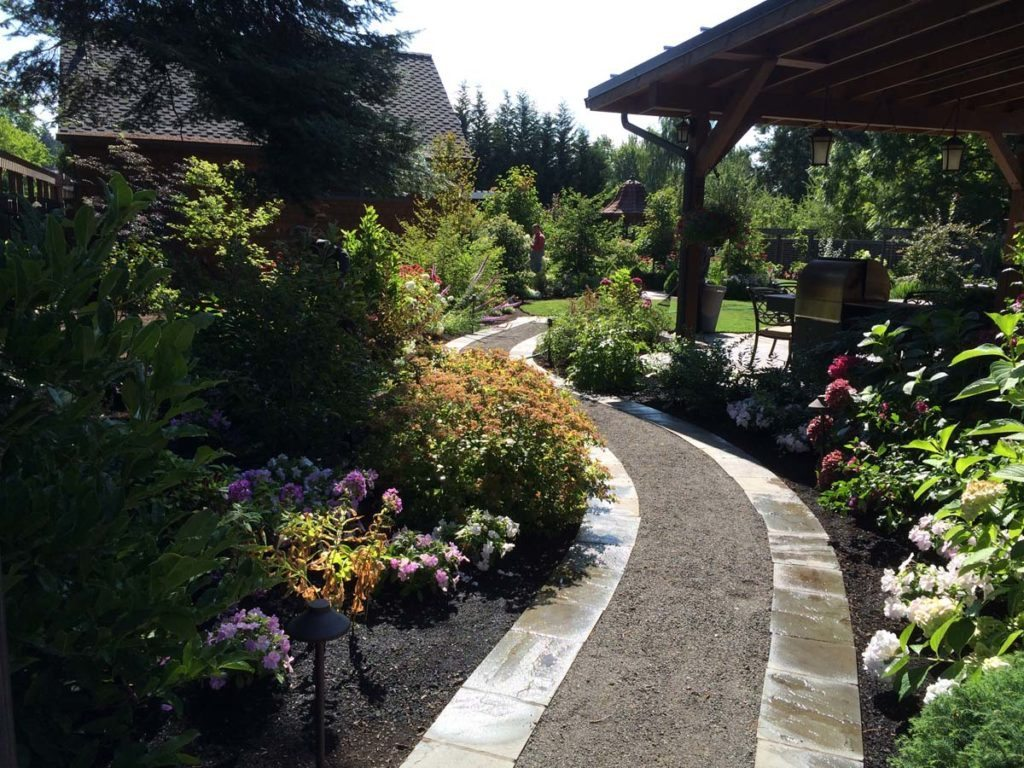 gravel path through landscape salem oregon