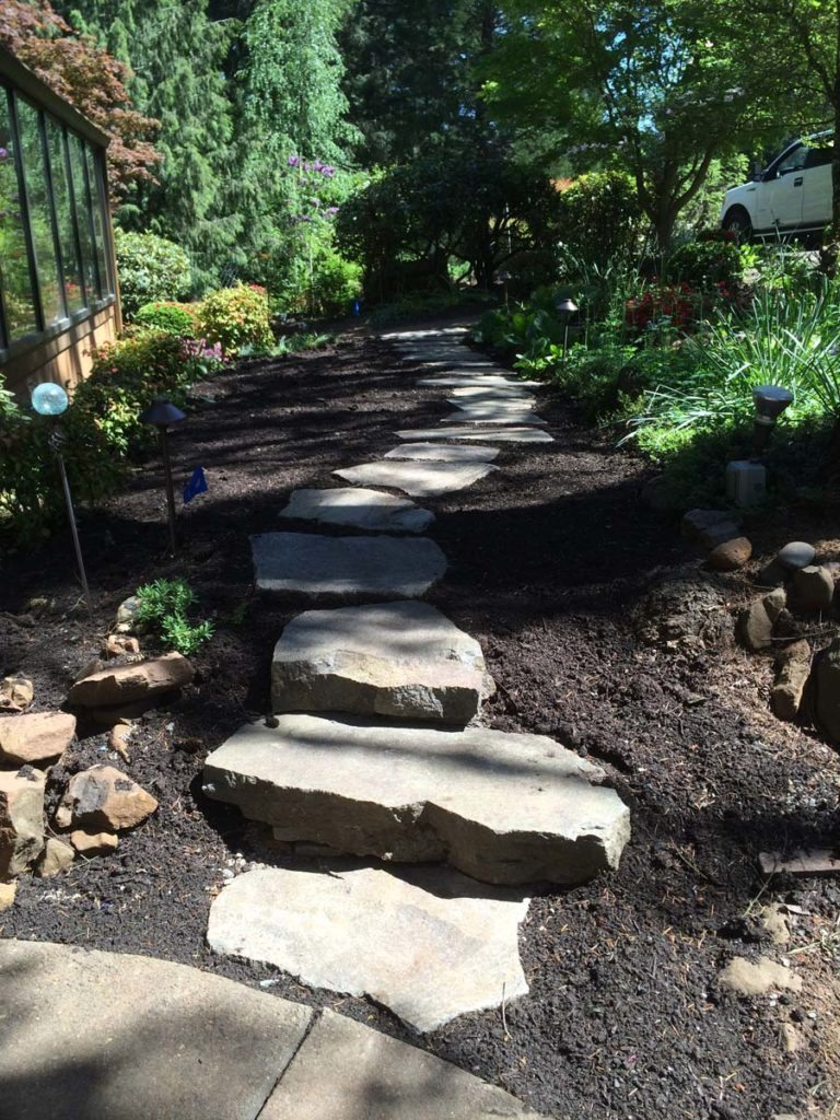 slab steps and landscaping design