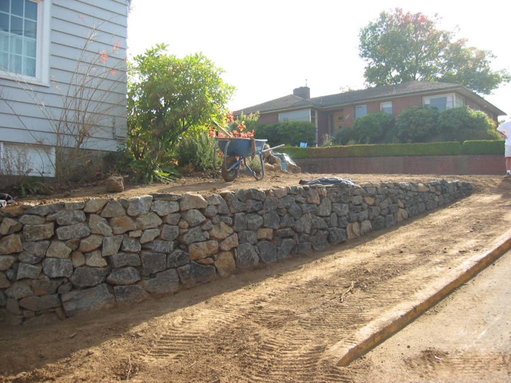 rubble wall during construction in salem oregon