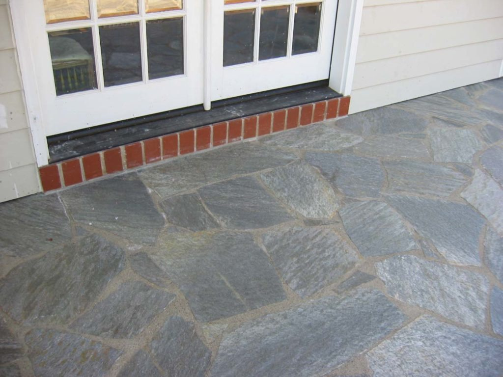 flagstone masonry for entry landscape design