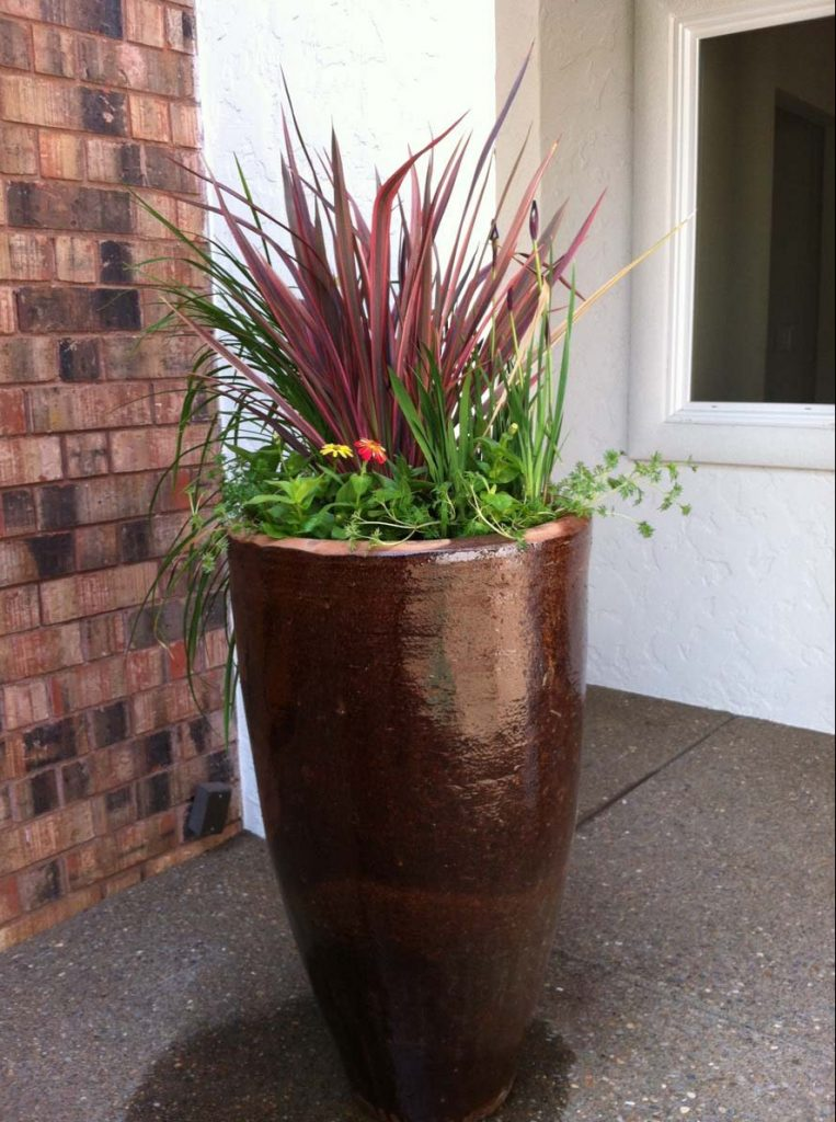 planting containers as a part of landscape design