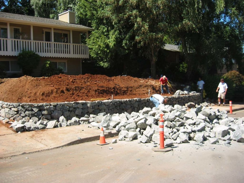rubble stone wall construction landscape design