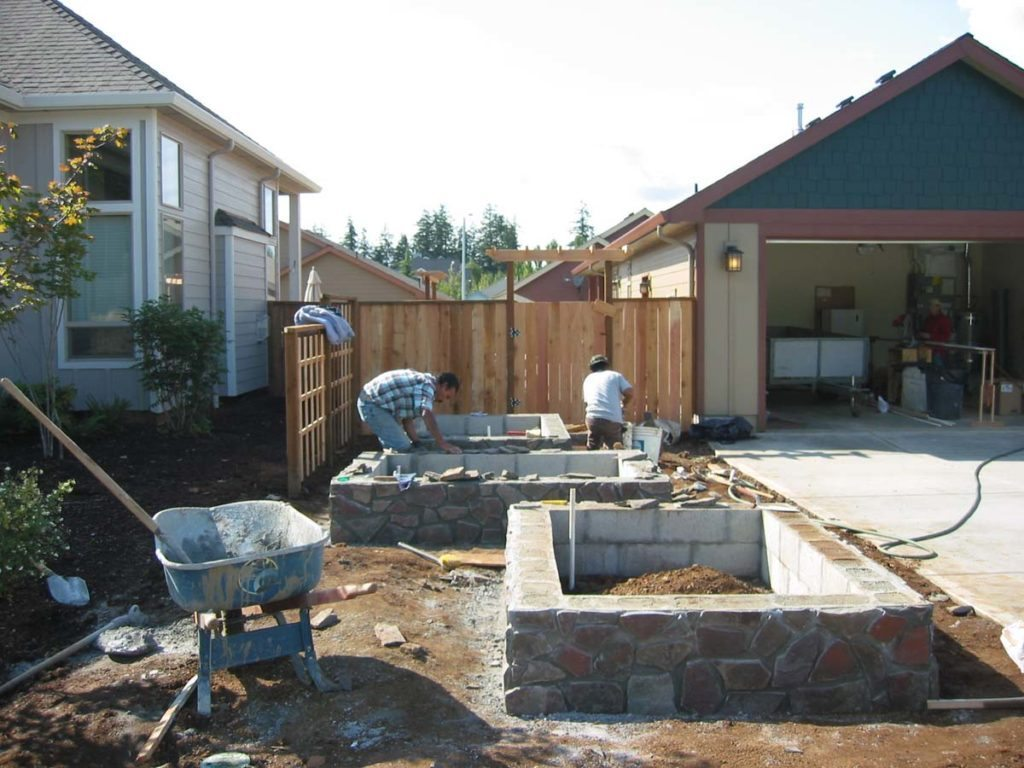 raised beds flagstone construction landscape 2