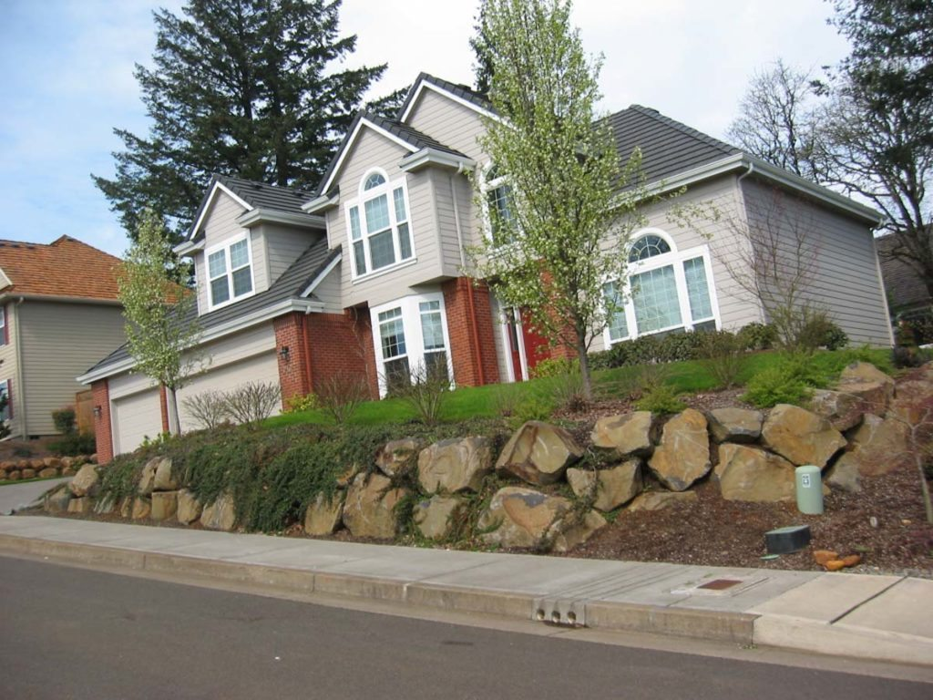 rock wall salem oregon landscape