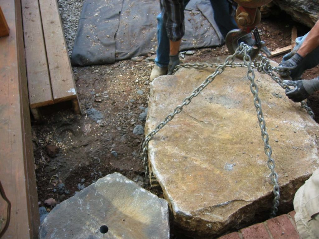 slab and mortar landscape design