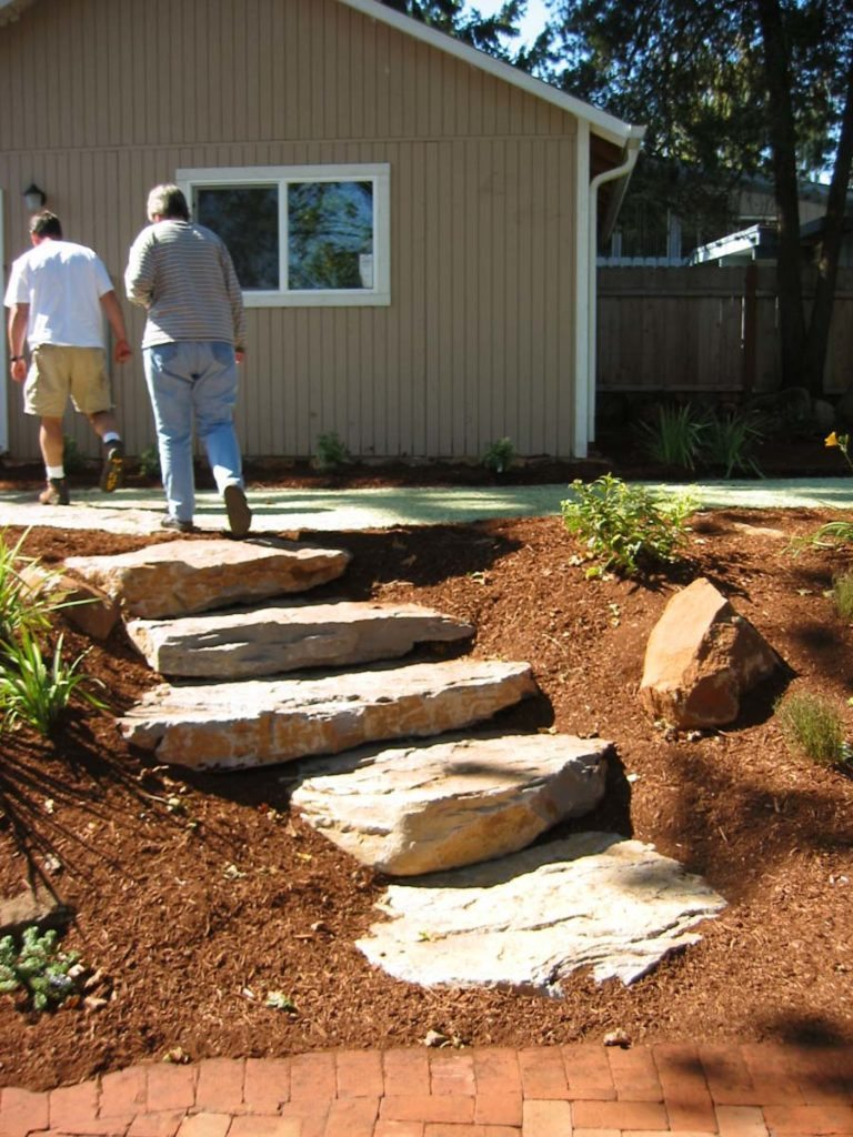 slab steps landscape design
