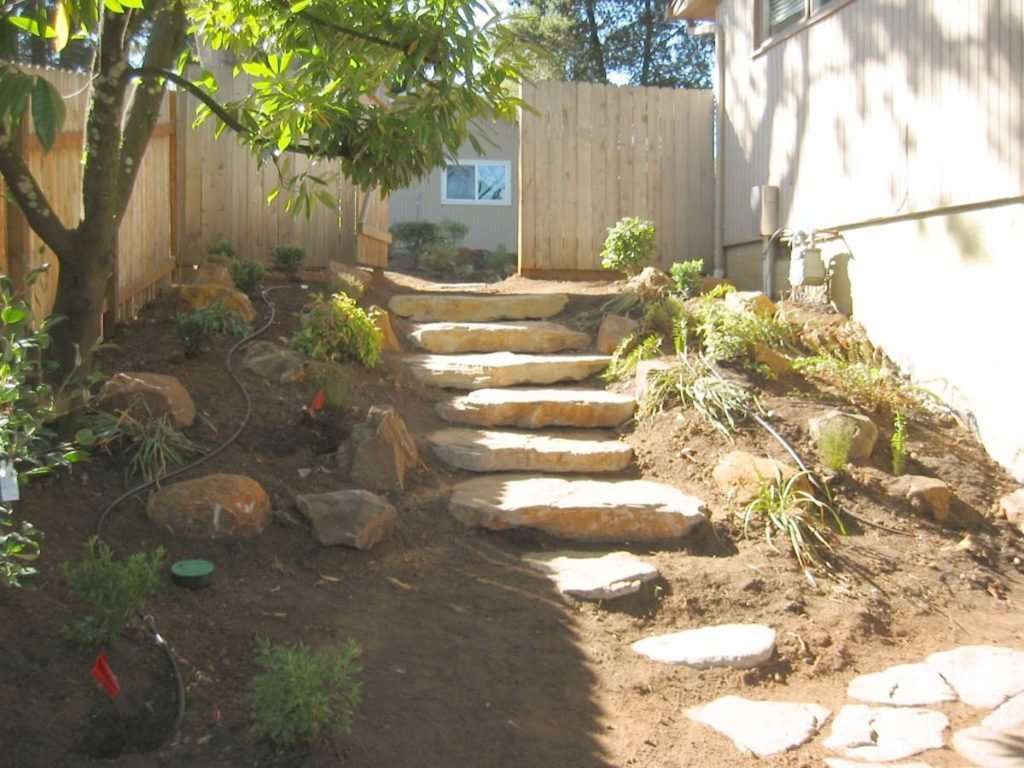 slab steps and drip system rough in salem oregon